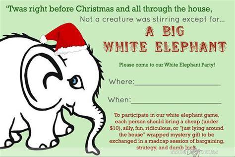 printable elephant birthday invitations white elephant