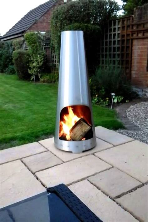 Stainless Steel Chiminea Stainless Steel Chiminea