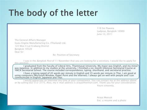 Application Letter Ppt Ppt Letters Of Application Powerpoint Presentation Id 2595066
