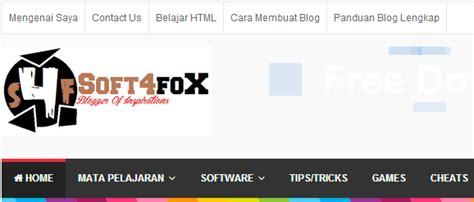 membuat menu di header html cara membuat navigasi menu di atas header blog blogger