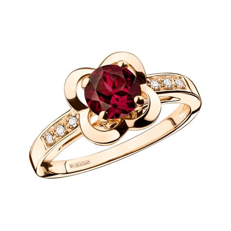 pink and gold l d 233 sirez l amour ring pink gold rhodolite and diamonds by