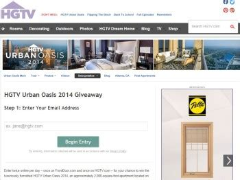Hgtv Home Giveaway Atlanta - hgtv urban oasis giveaway sweepstakes sweepstakes fanatics