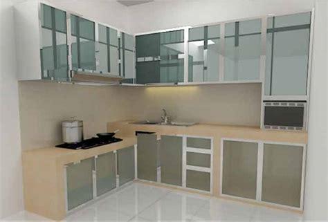 model kitchen set aluminium minimalis harga