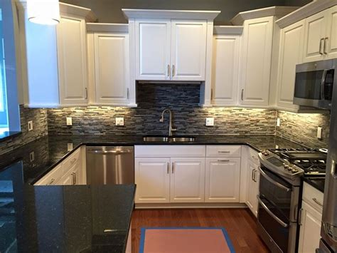 white kitchen cabinets black granite countertops best 25 modern granite kitchen counters ideas on