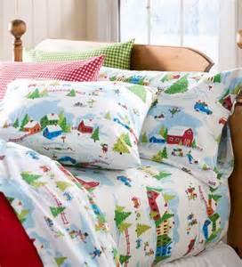 Children Duvet Sets Queen Winter Wonderland Portuguese Cotton Flannel Sheet