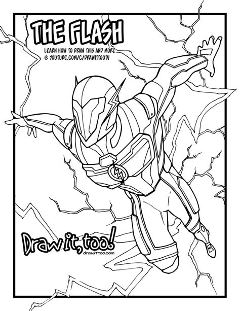 Injustice 2 Coloring Pages by How To Draw The Flash Injustice 2 Narrated Easy Step