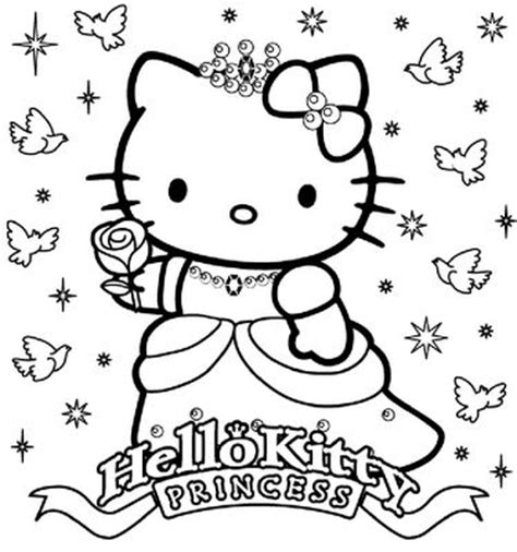 happy birthday coloring pages hello kitty hello kitty happy birthday princess coloring sheet hello