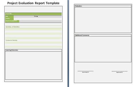 template for evaluation report project evaluation report template free ms excel format