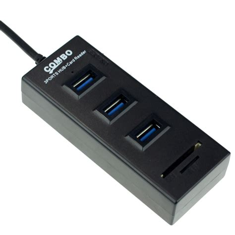 Usb Hub Card Reader usb hub 3 port card reader combo black jakartanotebook