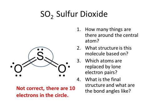 sulfur dioxide diagram covalent bonding shapes valence sheell electron pair