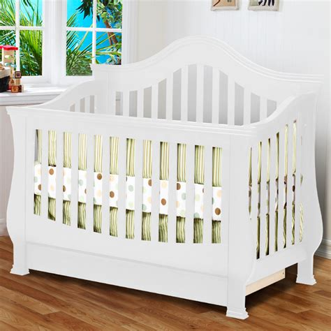 White Convertible Baby Crib Ashbury Sleigh Convertible Crib In White Cheap Autos Post