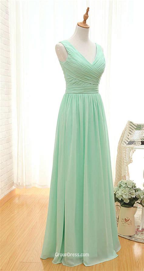 light green long dress sleeveless v neck mint green pleated a line vintage long
