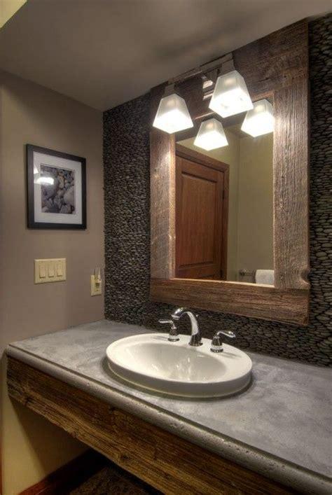 Barnwood Bathroom Ideas Barn Wood Framed Mirror Barn Siding Ideas