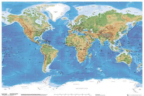 world map that shows rivers plakat z mapą świata sklep