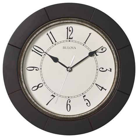 houzz wall clocks espresso wall clock transitional wall clocks by