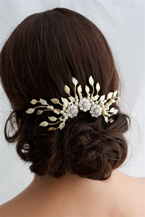 Wedding Hair Accessories Gold by Gold Wedding Headpiece Gold Bridal Hair Accessories Gold