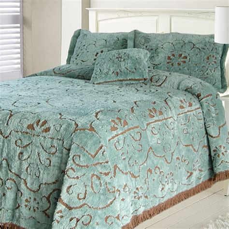 king size bed spread jessica slate chocolate chenille king size bedspread