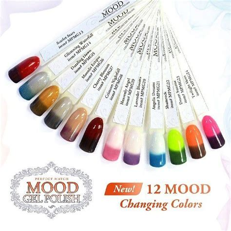 color and mood free lechat perfect match mood color lechat mood gel polish nail ideas pinterest polish