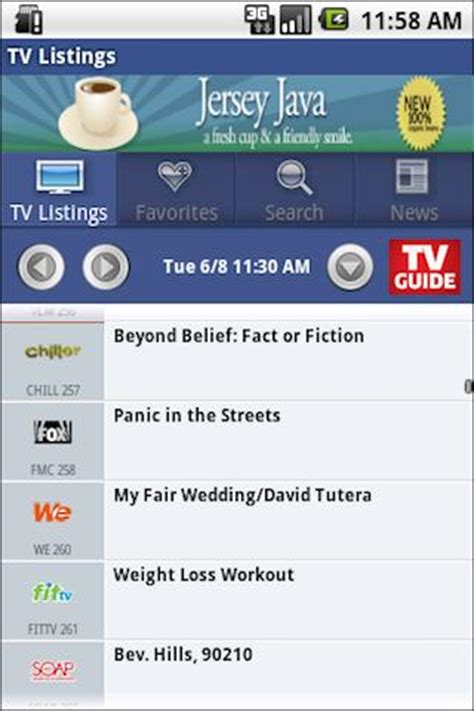 tv guide app for android wireless and mobile news android free apps tv guide for android in android market