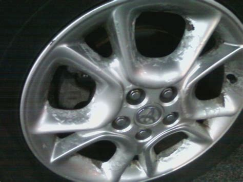 2005 toyota alloy wheel rims paint is bubbling and peeling 4 complaints