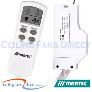 martec lcd bathroom heater exhaust fan remote kit