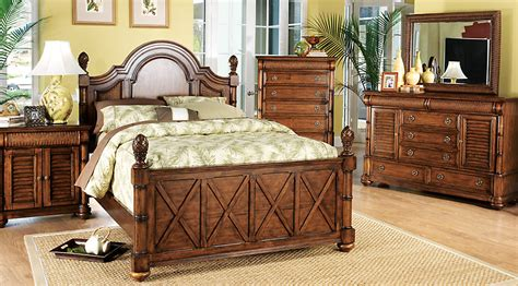 cindy crawford bedroom sets cindy crawford home key west tobacco panel 7 pc queen