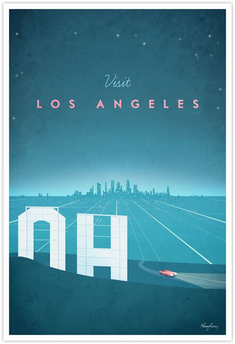 poster design los angeles los angeles vintage travel poster travel poster co