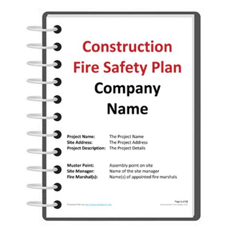construction safety plan template word work plan template calendar template 2016