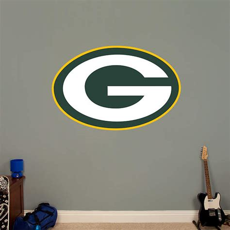 green bay packers home decor green bay packers logo wall decal shop fathead 174 for