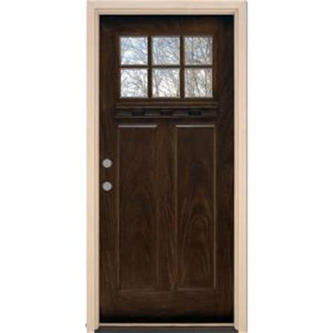 Fiberglass Exterior Doors Home Depot with Feather River Doors 37 5 In X 81 625 In 6 Lite Craftsman