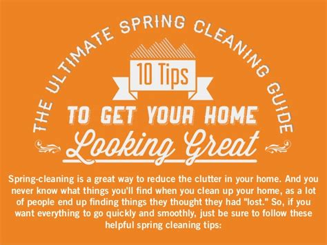 tips to clean your house the ultimate spring cleaning guide 10 tips to get your