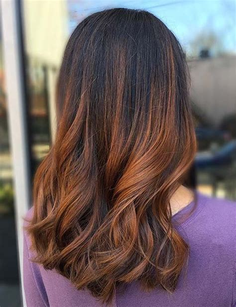 dark brown hair with copper highlights what s the best copper highlights on black hair www pixshark com