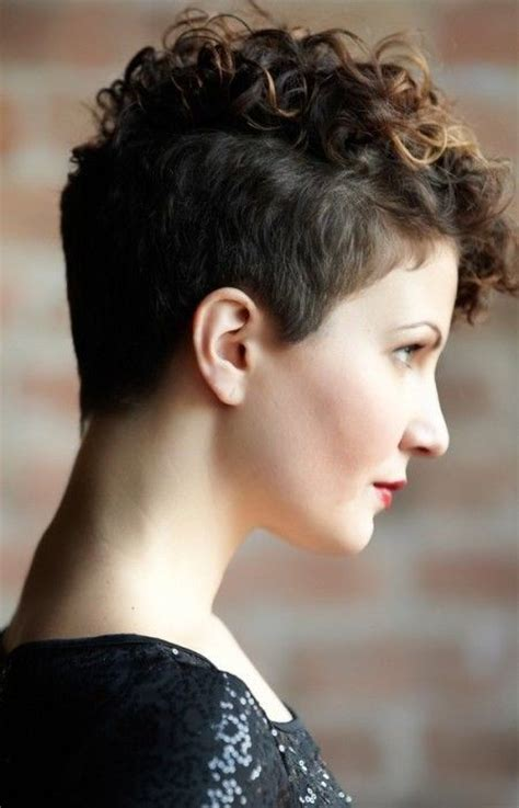 curly hair styles edgy pininterest 18 textured styles for your pixie cut undercut pixie