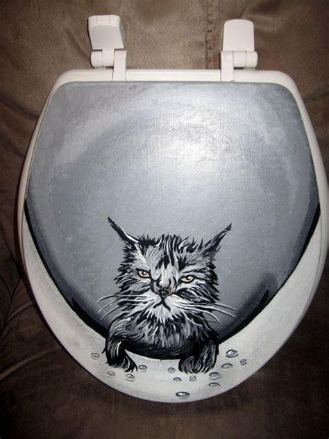 wet cat toilet seat