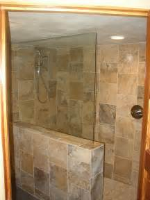 basement remodel with travertine tile walk shower flickr pics photos any that