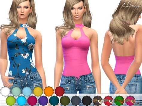 sims 4 female halter top the sims resource keyhole halter top by ekinege sims 4