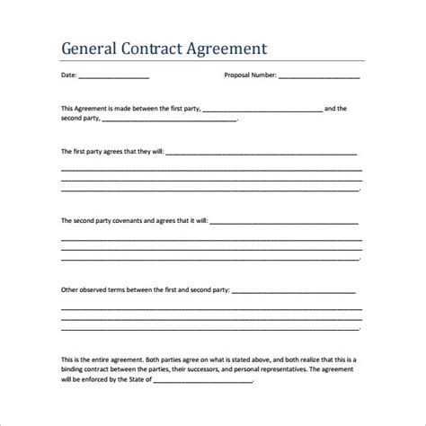 general service agreement template free new formatted agreement templates sles and templates