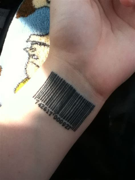 barcode tattoo on wrist barcode on wrist creativefan