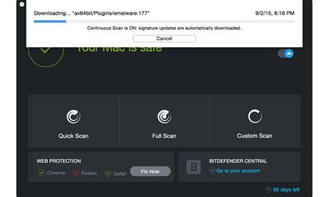 Antivirus Bitdefender bitdefender antivirus for mac para mac