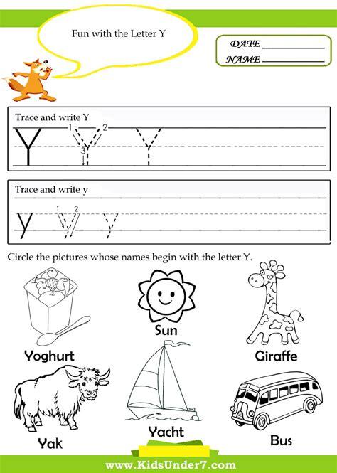 for kindergarten letter y worksheets for kindergarten geersc