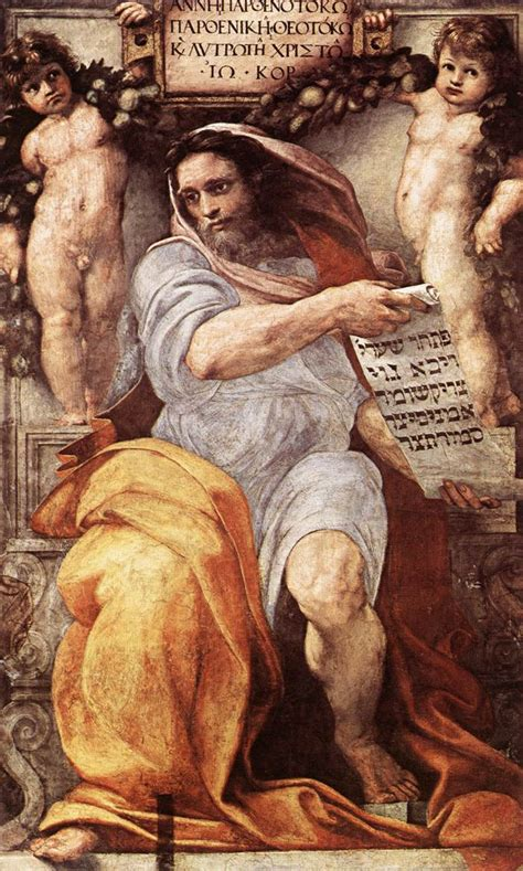 libro michelangelo the complete paintings the prophet isaiah raphael wikiart org encyclopedia of visual arts