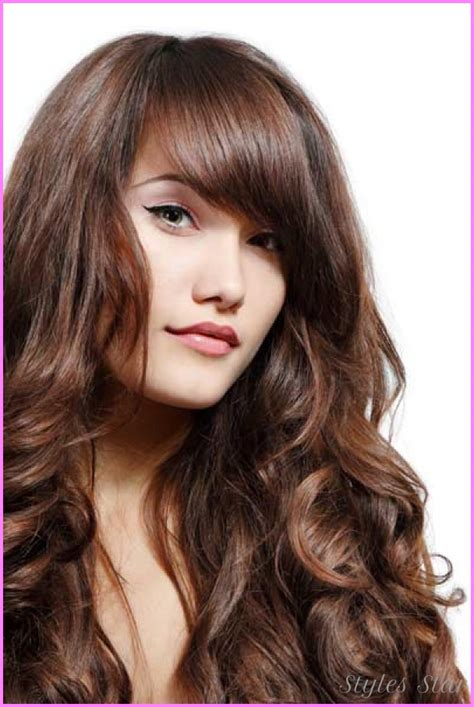 long thick hair styles with side part haircuts for long wavy hair with side bangs stylesstar com