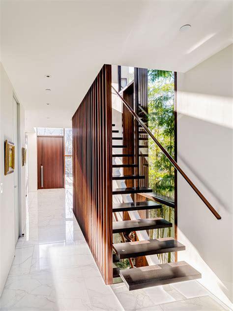 timber slats cover  upper floor   contemporary