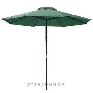 Waterproof Patio Umbrellas 9ft Wood Umbrella Outdoor Patio Market Home Restaurant 8 Ribs Open Opt Ebay