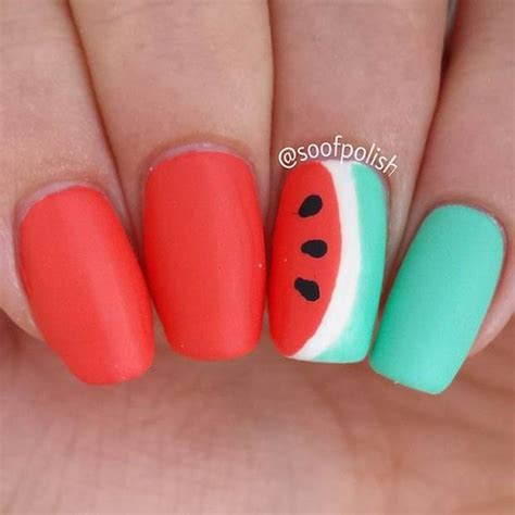 Watermelon Designs For Nails watermelon nail designs
