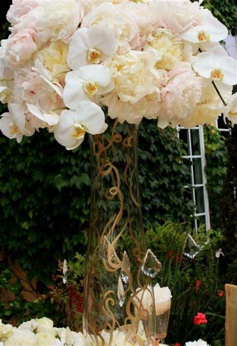 peonies and orchids topic centerpiece ideas