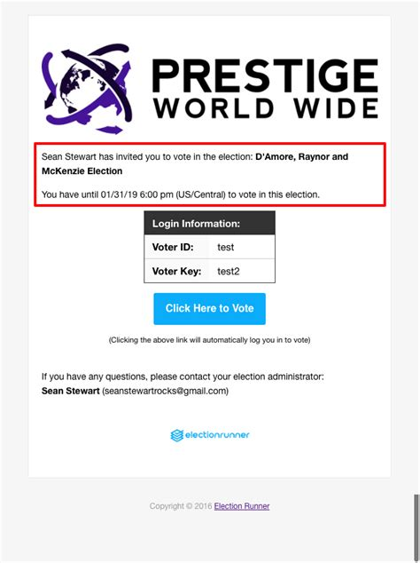 How To Customize Your Election S Email Templates Election Runner Support Voting Email Template
