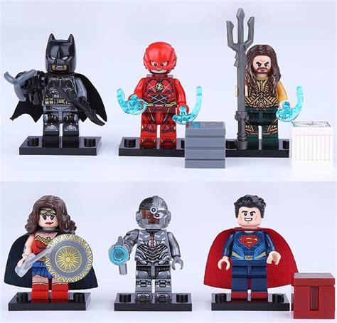 Bootleg Lego Justice League Flash 6pcs set justice league batman superman cyborg aquaman flash building block mini