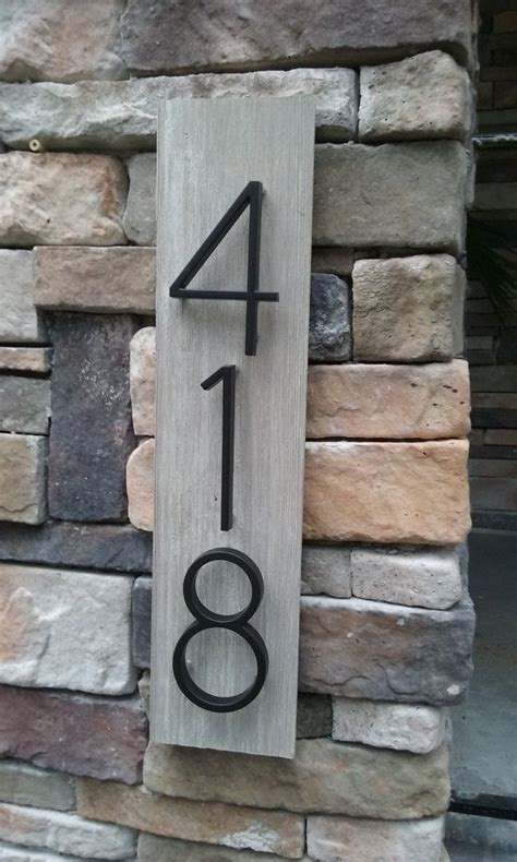 Handmade House Numbers - best 25 house number plaques ideas on diy