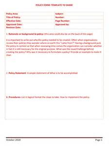 policy template word policy and procedure templates for word and pdf